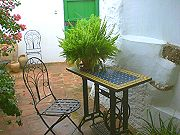 Shady terrace, ideal for the Spanish summers Self catering rural accommodation