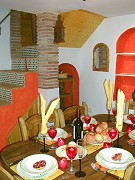 Rural accommodation: Dining room Rural accommodation with two bedrooms, Comares, Malaga